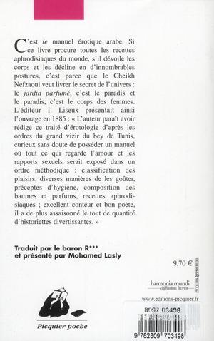 Le jardin parfumé ; manuel d'érotologie arabe