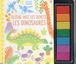 Dessine avec les doigts ; les dinosaures