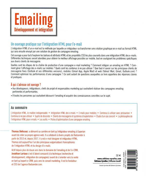 Emailing : développement et intégration ; #responsive #html #css