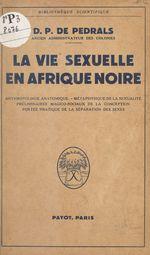 La vie sexuelle en Afrique noire