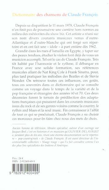 Dictionnaire des chansons de claude francois