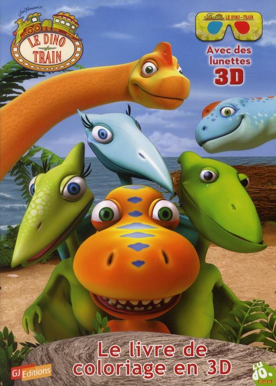 Dino train ; le livre de coloriage en 3D