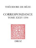 Correspondance  - Théodore de Bèze