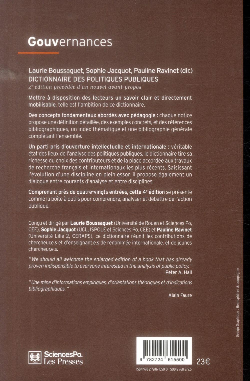 Dictionnaire des politiques publiques (4e édition)
