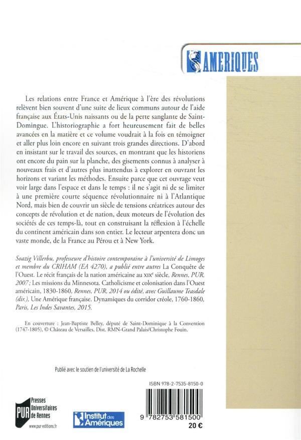 La France et les Amériques entre révolutions et nations : 1776-1871