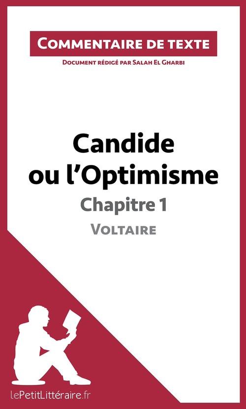 Candide ou l'optimisme de Voltaire ; chapitre 1