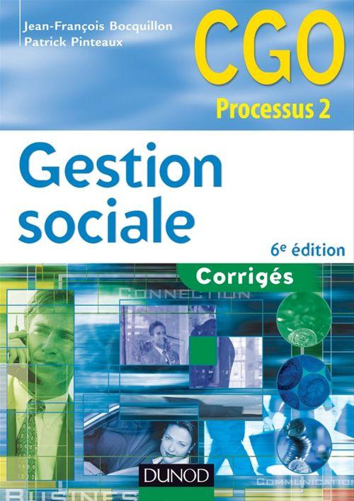 Gestion sociale ; corrigés (6e édition)