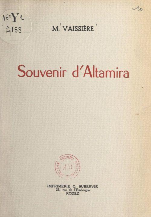 Souvenir d'Altamira