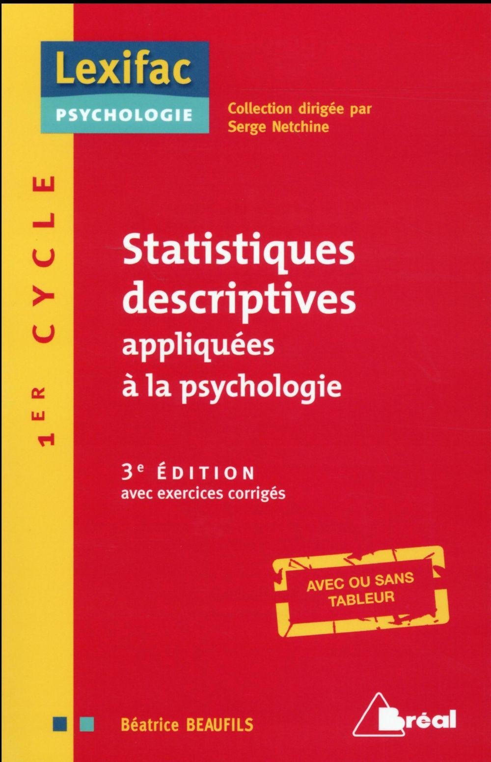 Statistiques Descriptives Appliquees A La Psychologie