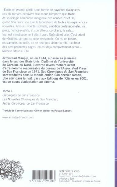 Chroniques de San Francisco ; INTEGRALE VOL.1 ; T.1 A T.3
