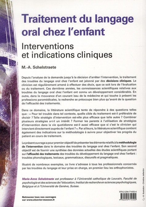 Troubles et traitements du langage oral chez l'enfant ; symptômes et interventions