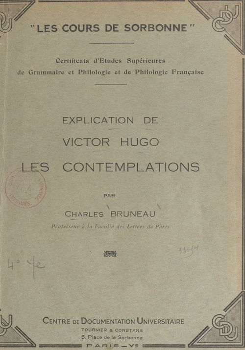 Explication de Victor Hugo : Les Contemplations