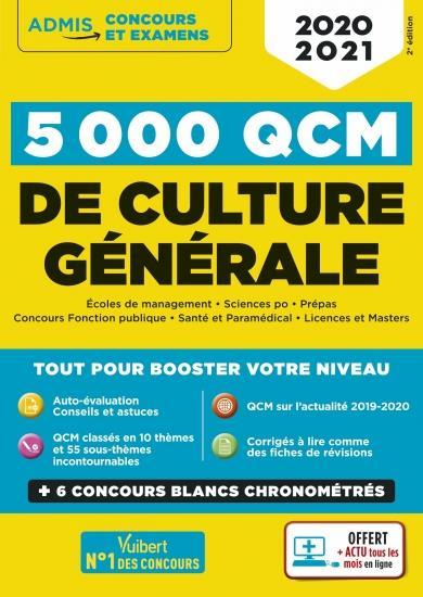 5000 QCM de culture générale + actu en ligne mois par mois