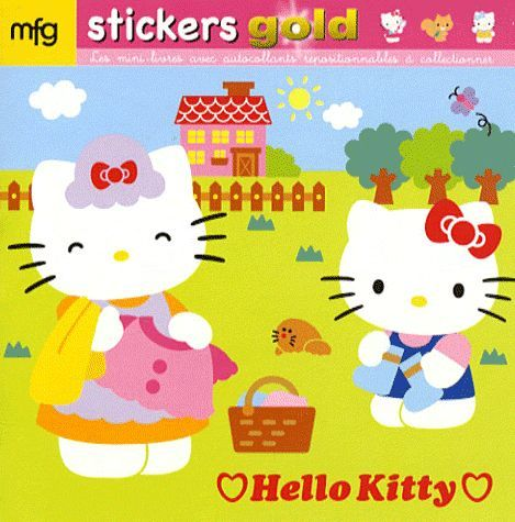 Hello Kitty ; stickers gold