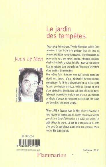 Le jardin des tempetes - choix de poemes 1971-1996