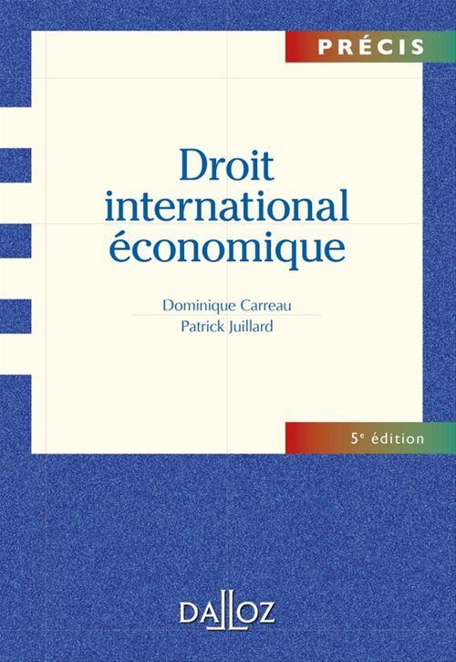 Droit international économique (5e édition)