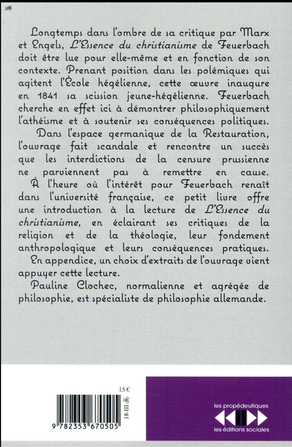 Comprendre l'essence du christianisme de Feuerbach