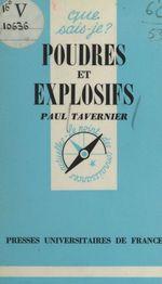 Poudres et explosifs