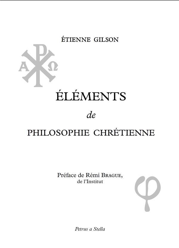 éléments de philosophie chrétienne