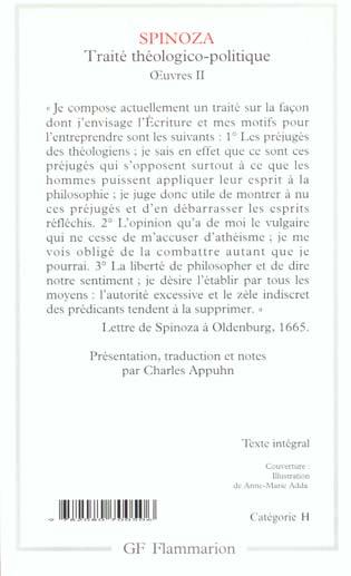 oeuvres t.2 ; traité théologico-politique