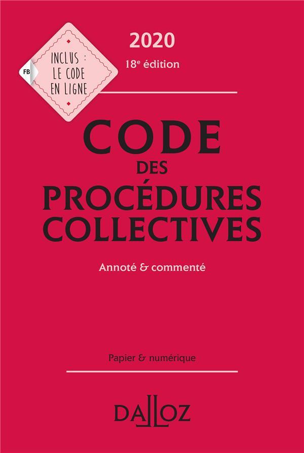 Code des procédures collectives, annoté & commenté (édition 2020)