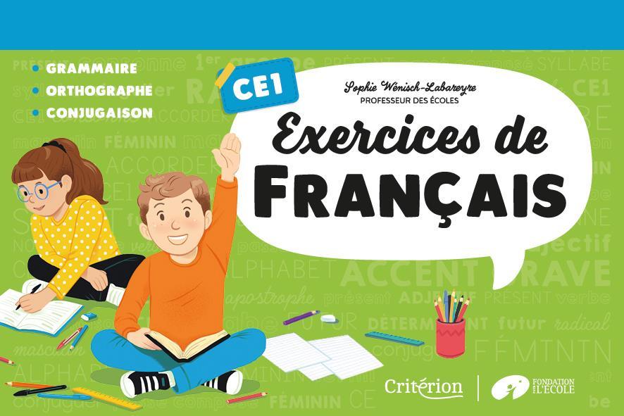 Exercices de français ; CE1