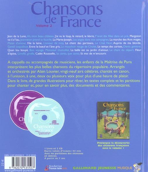 Chansons de france - volume 2