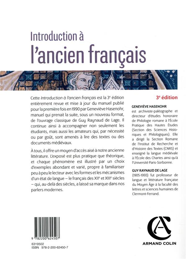 Introduction à l'ancien français (3e édition)