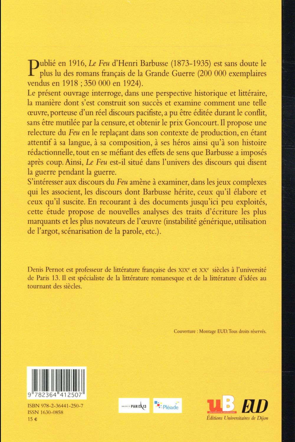 Henri Barbusse ; les discours du feu