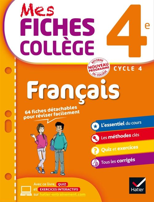 Mes Fiches College Francais 4eme Helene Ricard Matthieu Verrier Hatier Ebook Pdf Epagine