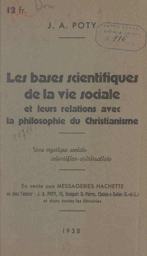 Les bases scientifiques de la vie sociale et leurs relations avec la philosophie du christianisme