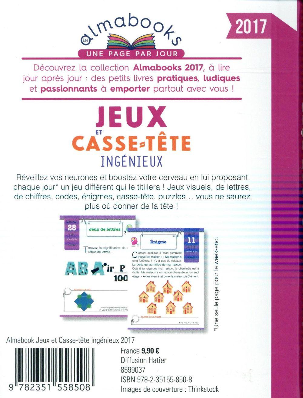 Almabook ; jeux et casse-tête ingénieux (édition 2017)