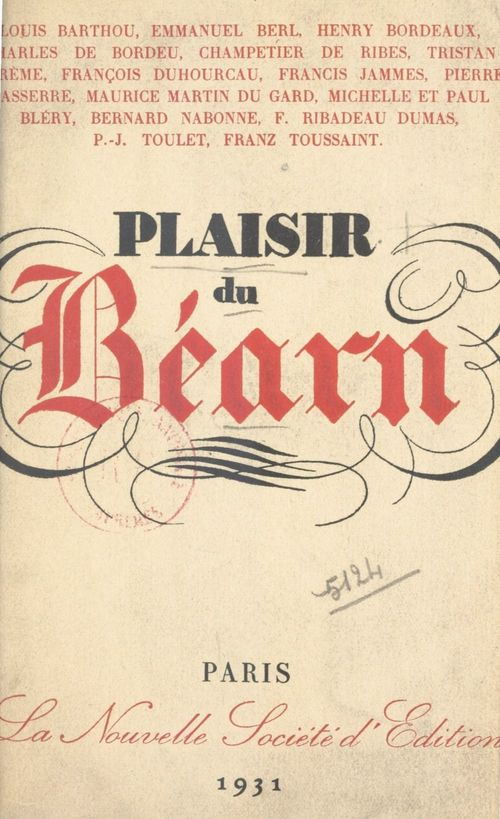 Plaisir du Béarn  - Emmanuel Berl  - Louis Barthou  - Michelle Bléry