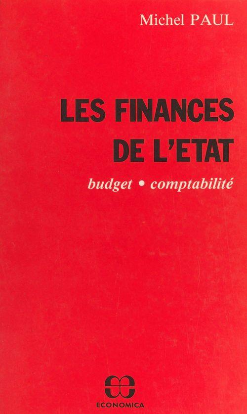 Les finances de l'État : budget, comptabilité