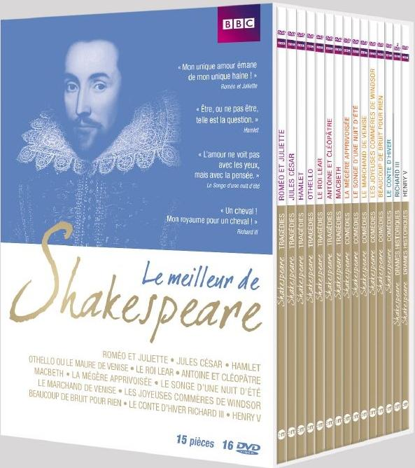 Le Meilleur de Shakespeare - Coffret 15 pièces