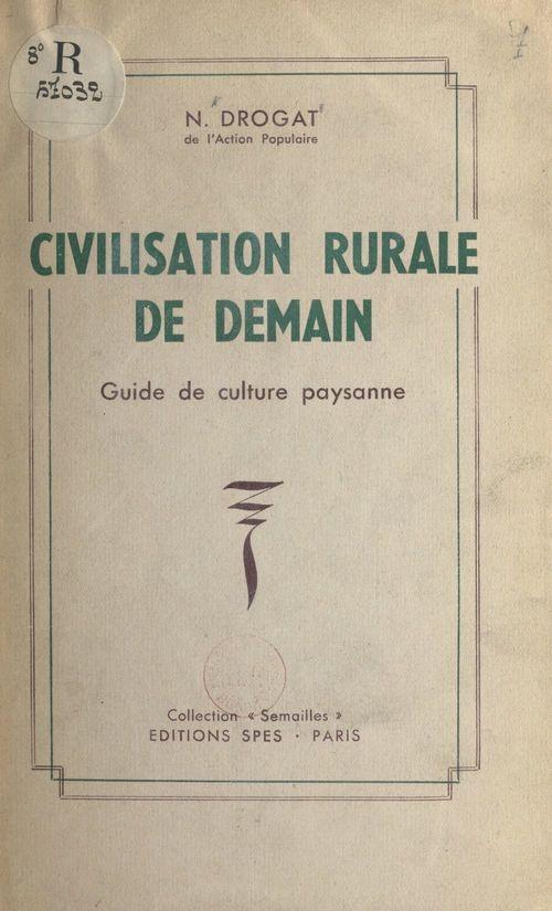 Civilisation rurale de demain