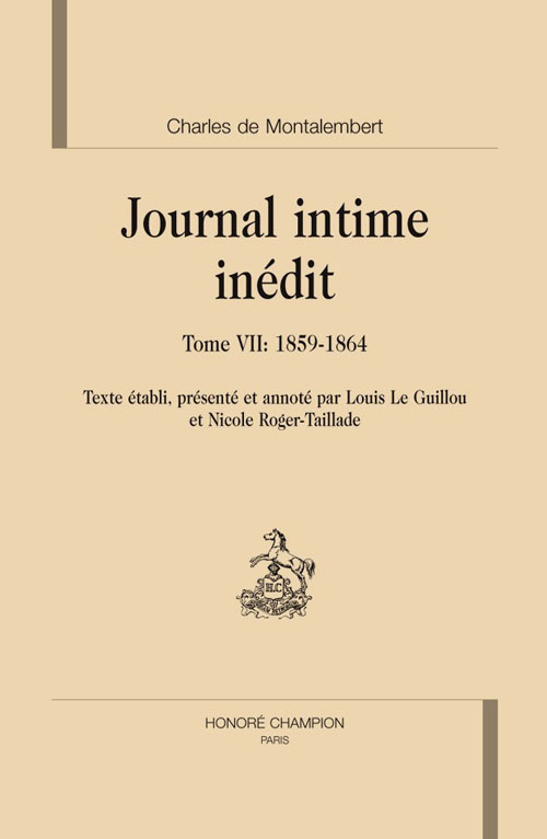 Journal intime inédit t.7 ; 1859-1864