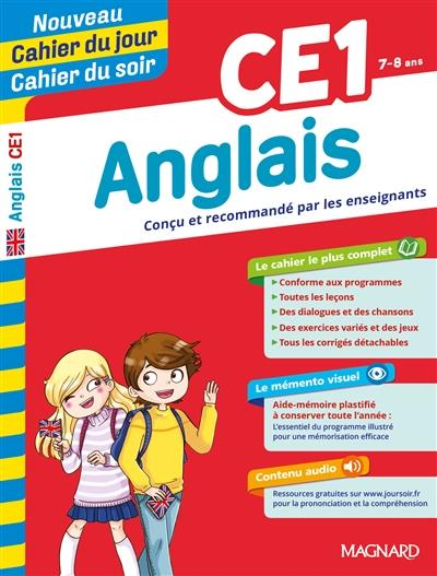 Cahiers du jour/ soir ; anglais ; CE1