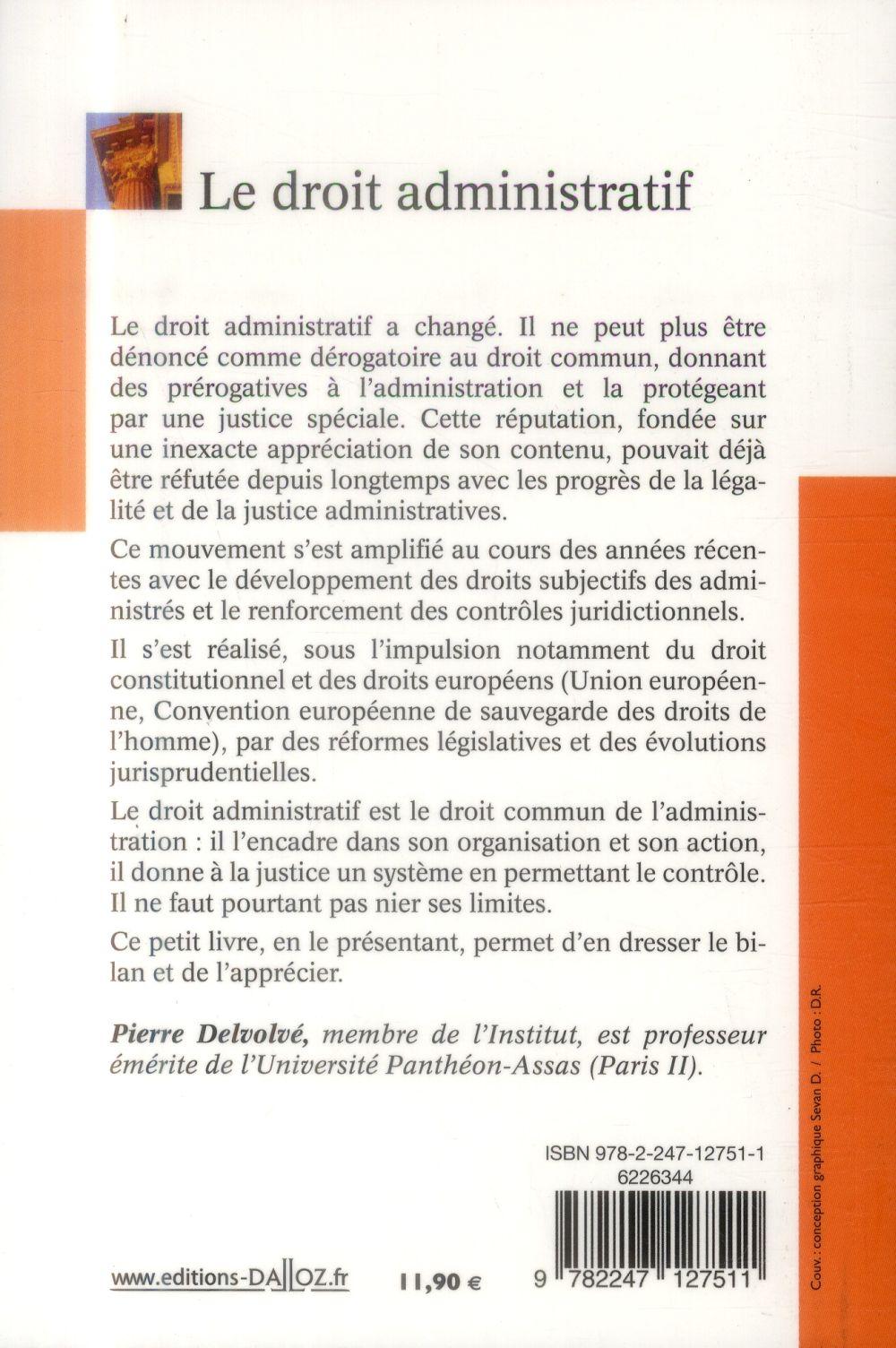 Le droit administratif (6e édition)
