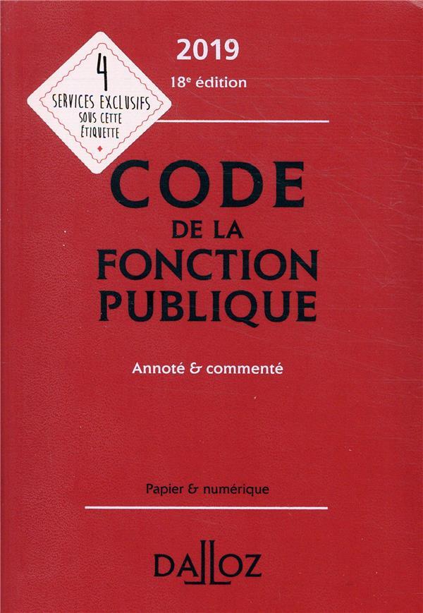 Code de la fonction publique annoté et commenté (édition 2019) (18e édition)