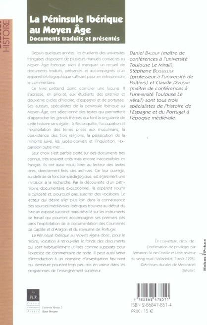 La péninsule ibérique au Moyen Age ; documents traduits et présentés