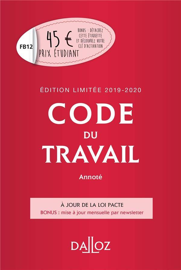 Code du travail (édition 2019/2020)