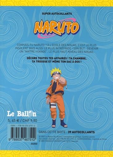 Naruto ; super autocollants