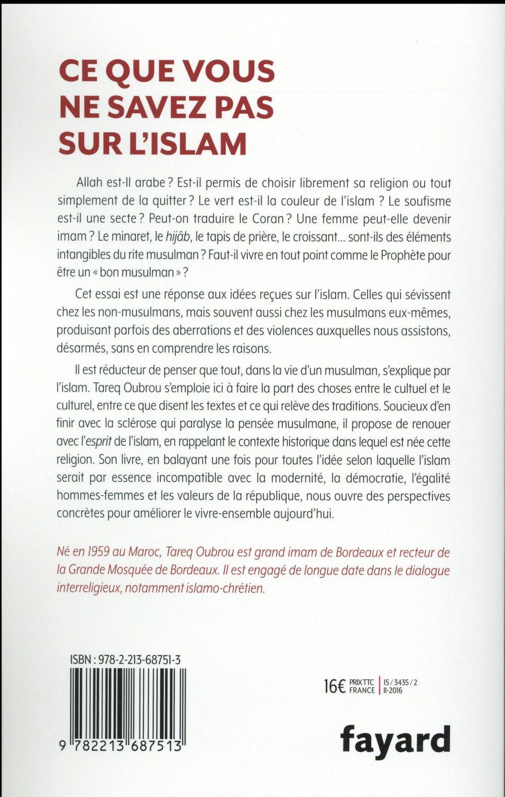 Ce que vous ne savez pas sur l'islam