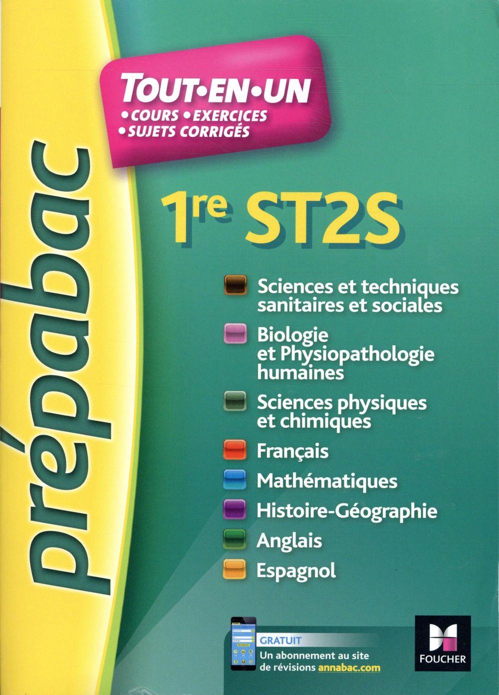 PREPABAC ; toutes les matières ; 1re ST2S ; révision et entraînement