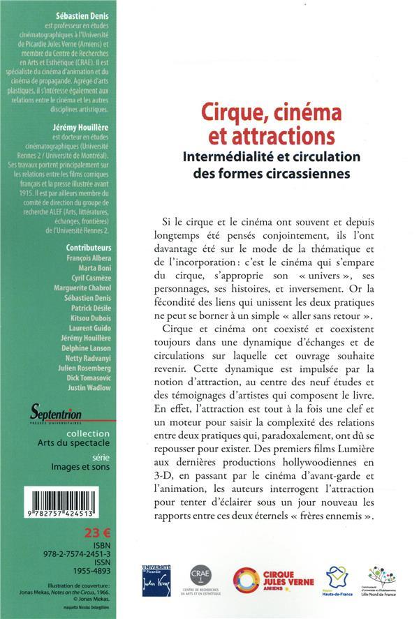 Cirque, cinéma et attractions ; intermédialité et circulation des formes circassiennes