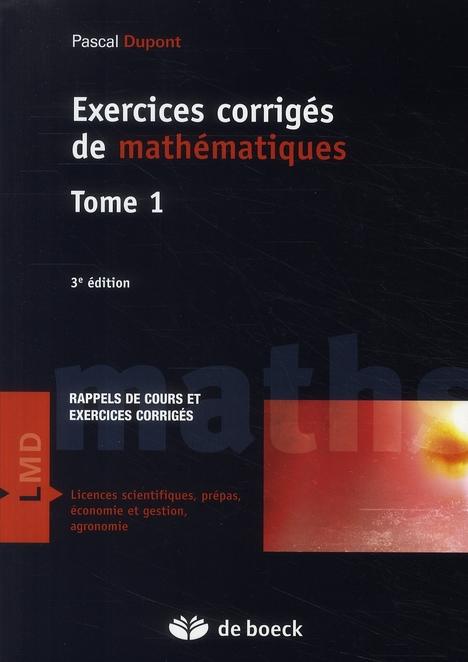 Exercices Corriges De Mathematiques T.1