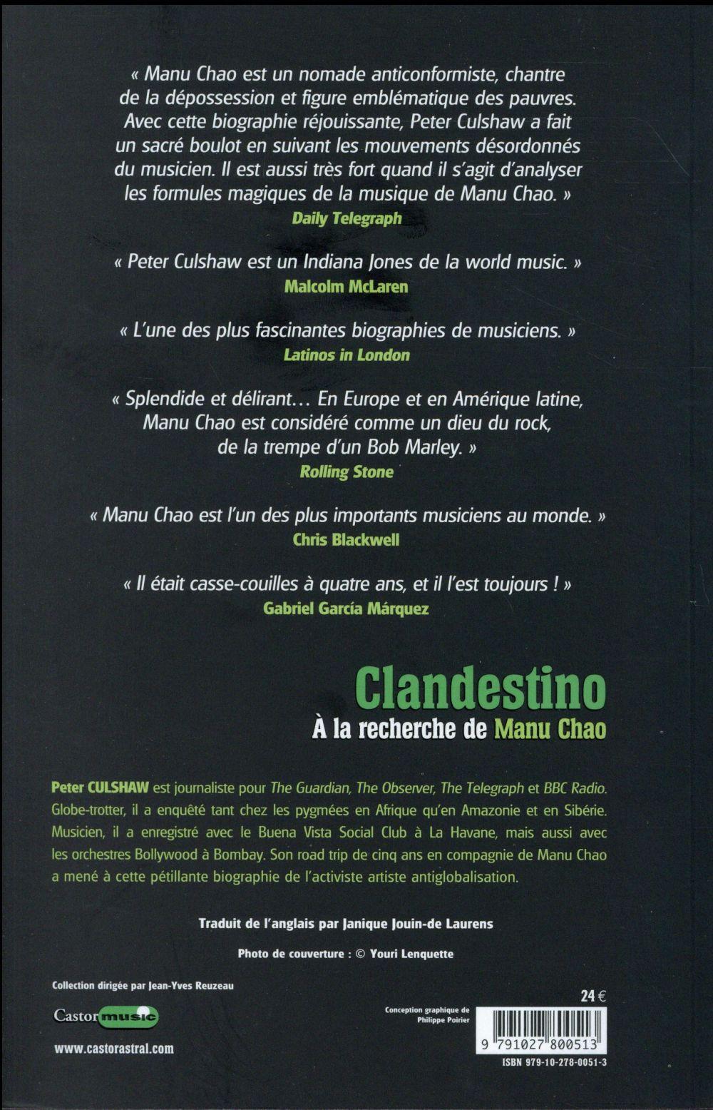 Clandestino ; à la recherche de Manu Chao
