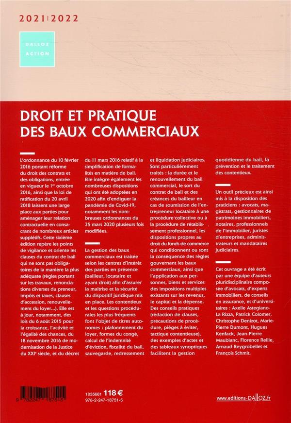 Droit et pratique des baux commerciaux (édition 2021/2022)