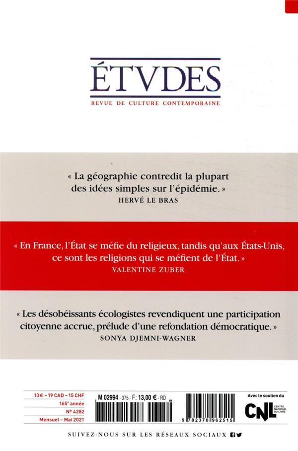 Revue etudes n.4282